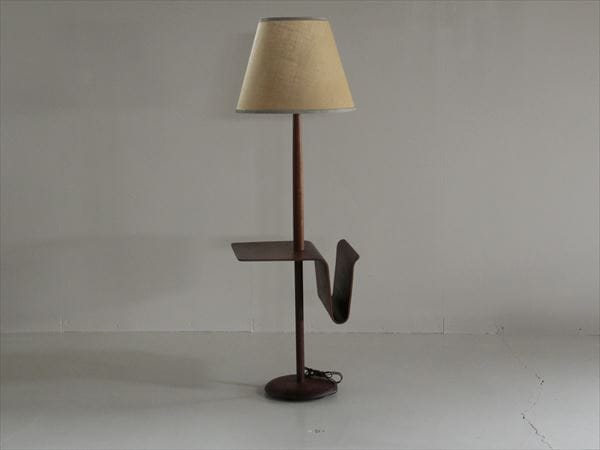 Floor lamp with tray vintage lamp floor lamp with tray mozeypictures Gallery